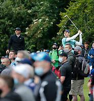 3rd July 2021; Mount Juliet Golf Club, Kilkenny, Ireland; Dubai Duty Free Irish Open Golf, Day Three; Matthew Jordan of England tees off on the 3rd hole