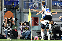 Marten de Roon of Atalanta BC celebrates with Mario Pasalic of Atalanta BC after scoring the goal of 0-2 for his side <br /> Roma 25-9-2019 Stadio Olimpico <br /> Football Serie A 2019/2020 <br /> AS Roma - Atalanta Bergamasca Calcio <br /> Foto Andrea Staccioli / Insidefoto