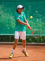 05-08-13, Netherlands, Dordrecht,  TV Desh, Tennis, NJK, National Junior Tennis Championships, Wisse Jonker  <br /> <br /> <br /> Photo: Henk Koster