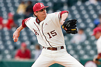 TJ Forrest (15);March 10th, 2010; South Dakata State University vs Arkansas Razorbacks at Baum Stadium in Fayetteville Arkansas. Photo by: William Purnell/Four Seam Images