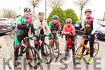Members of the Killarney Cycling Club at the SRAC and the Chain Gang Cycling Club Atlantic Challenge road race at the Rose Hotel on Saturday.  <br /> L to r: Den O'Connor, Andy Buckley, Ger Sweeney, Helen MacIver and Paul Courtney.