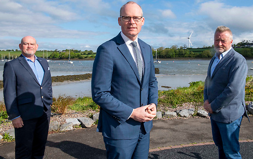 Minister for Foreign Affairs and Defence Simon Coveney joined renewable energy company - EI-H2 - as they announced plans for Ireland's first Green Hydrogen facility. Upon completion, the site will be one of the biggest green energy facilities of its kind in the world. Over 85 full-time direct and indirect jobs will be created. Pictured are EI-H2 founder Pearse Flynn (on right)  and CEO of EI-H2 Tom Lynch.