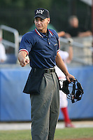 2007 MiLB Umpire Joey Amaral during New York-Penn League League action.  Photo by Mike Janes/Four Seam Images