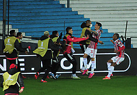 20th July 2021; Buenos Aires, Argentina;  Emiliano Rigoni of São Paulo celebrates his goal during the match between Racing and São Paulo, for the Round of 16 of the Libertadores 2021, at Estádio Presidente Perón