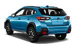 Car pictures of rear three quarter view of 2020 Subaru Crosstrek Hybrid 5 Door SUV Angular Rear