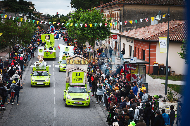 The publicity caravan before Stage 17 of the 2021 Tour de France, running 178.4km from Muret to Saint-Lary-Soulan Col du Portet, France. 14th July 2021.  <br /> Picture: A.S.O./Aurelien Vialatte | Cyclefile<br /> <br /> All photos usage must carry mandatory copyright credit (© Cyclefile | A.S.O./Aurelien Vialatte)