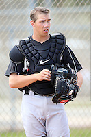 March 20, 2010:  Catcher Kyle Skipworth of the Florida Marlins organization during Spring Training at the Roger Dean Stadium Complex in Jupiter, FL.  Photo By Mike Janes/Four Seam Images