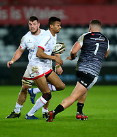 Saturday 15th February 2020 | Ospreys vs Ulster Rugby<br /> <br /> Robert Baloucoune in action during the PRO14 Round 11 clash between the Ospreys and Ulster Rugby at the Liberty Stadium, Swansea, Wales. Photo by John Dickson/DICKSONDIGITAL