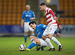 St Johnstone v Hamilton Accies...04.01.15   SPFL<br /> Brian Graham and Jonathon Routledge<br /> Picture by Graeme Hart.<br /> Copyright Perthshire Picture Agency<br /> Tel: 01738 623350  Mobile: 07990 594431