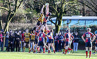 Saturday 4th February 2017 | RBAI vs BALLYCLARE HIGH SCHOOL<br /> <br /> Josh Young during the Ulster Schools' Cup clash between RBAI and Ballyclare High School at  Cranmore Park, Belfast, Northern Ireland.<br /> <br /> Photograph by www.dicksondigital.com