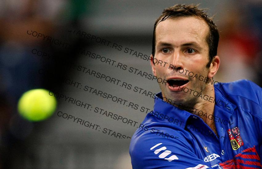 Tenis, Davis Cup 2010.Serbia Vs. Czech Republic, semifinals.Viktor Troicki Vs. Radek Stepanek.Radek Stepanek, returnes.Beograd, 17.09.2010..foto: Srdjan Stevanovic/Starsportphoto ©e