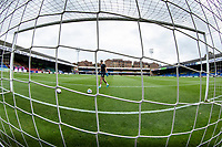 A general view from behind the goal at Roots Hallduring Southend United vs Exeter City, Sky Bet EFL League 2 Football at Roots Hall on 10th October 2020