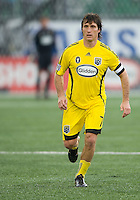 02 May 2009: Columbus Crew forward/midfielder Guillermo Barros Schelotto #7 in action at BMO Field in a game between the Columbus Crew and Toronto FC. .The game ended in a 1-1 draw...