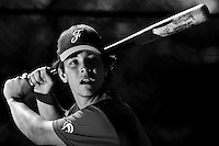 Tom Mayeux (France) takes batting practice during a 12 days training camp in Cuba, accross the country.