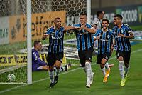14th November 2020; Arena de Gremio, Porto Alegre, Brazil; Brazilian Serie A, Gremio versus Ceara; Diego Churín of Gremio celebrates his goal with David Braz in the 70th minute for 4-1