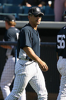 March 17th 2008:  Joe Girardi of the New York Yankees during a Spring Training game at Legends Field in Tampa, FL.  Photo by:  Mike Janes/Four Seam Images