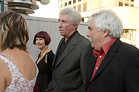 Montreal QC CANADA - Sept 3 2007 - Gilles Duceppe (M),hs wife (L) and  Mario Fortin (R) red carpet