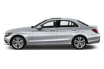 Car driver side profile view of a 2017 Mercedes Benz C Class C350e 4 Door Sedan
