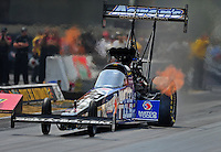 Jul, 10, 2011; Joliet, IL, USA: NHRA top fuel dragster driver Antron Brown during the Route 66 Nationals at Route 66 Raceway. Mandatory Credit: Mark J. Rebilas-