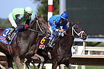 September 07, 2015. Daddy's Thief (#3), ridden by Jacqueline Davis, wins race 4, six furlongs for maidens three years old and upward. Undercard races and scenes around the track on Labor Day at  Parx Racing in Bensalem, PA.  (Joan Fairman Kanes/ESW/CSM)