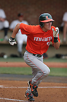 Blake Tekotte of the Miami Hurricanes vs. the Virginia Cavaliers: March 24th, 2007 at Davenport Field in Charlottesville, VA.  Photo by:  Mike Janes/Four Seam Images