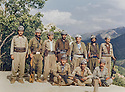 Iraq 1985 <br /> In Bechiley valley, near Amadia, 3 rd right, Najmeddin Yousefi with peshmergas     <br /> Irak 1985 <br /> Dans la valley de Bechilé pres de Amadia, 3eme a droite, Najmeddin Yousefi avec des peshmergas