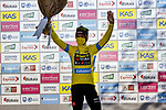 Race leader Primoz Roglic (SLO) Team Jumbo-Visma retains the yellow jersey Stage 3 of the Itzulia Basque Country 2021, running 167.7km from Amurrio to Laudi/Ermualde, Spain. 7th April 2021.  <br /> Picture: Luis Angel Gomez/Photogomezsport | Cyclefile<br /> <br /> All photos usage must carry mandatory copyright credit (© Cyclefile | Luis Angel Gomez/Photogomezsport)
