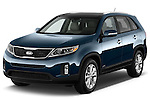 2015 KIA Sorento EX V6 AT 5 Door Suv 2WD Angular Front stock photos of front three quarter view