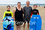 Enjoying the sunshine on Banna Beach on Sunday, l to r: Isabelle Twomey, Melissa Wilmot, Thomas Twomey and Emily Flanagan from Listowel.