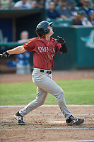 Reed Rohlman (19) of the Idaho Falls Chukars bats against the Ogden Raptors at Lindquist Field on July 29, 2018 in Ogden, Utah. The Raptors defeated the Chukars 20-19. (Stephen Smith/Four Seam Images)