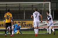 Michael Rose of Morecambe scores his sides first goal of the match from a penalty during the Sky Bet League Two match between Newport County and Morcambe at Rodney Parade, Newport, Wales, UK. 23 January 2018