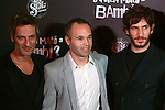 Premiere in Barcelona: ¿Quien mato a Bambi?<br /> Ernesto Alterio, Andres Iniesta & Quim Gutierrez.