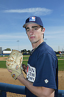February 10 2008: Matt Magill participates in a MLB pre draft workout for high school players at the Urban Youth Academy in Compton,CA.  Photo by Larry Goren/Four Seam Images