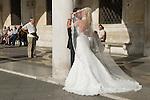 Venice Italy 2009. Wedding couple.