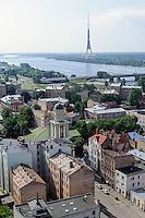 Blick auf Daugava (Düna)  in Riga, Lettland, Europa
