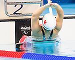 Tess Routliffe, Rio 2016 - Para Swimming /// Paranatation.<br /> Tess Routliffe competes in the women's 100m backstroke S5 classification heats // Tess Routliffe participe aux manches de classement S5 du 100 m dos féminin. 08/09/2016.
