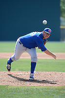 Toronto Blue Jays pitcher Andrew Case (29) during a minor league spring training game against the Pittsburgh Pirates on March 21, 2015 at Pirate City in Bradenton, Florida.  (Mike Janes/Four Seam Images)