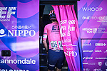 Lawson Craddock (USA) EF Education-Nippo in the team bus at sign on before the start of Stage 15 of La Vuelta d'Espana 2021, running 197.5km from Navalmoral de la Mata to El Barraco, Spain. 29th August 2021.     <br /> Picture: Charly Lopez/Unipublic | Cyclefile<br /> <br /> All photos usage must carry mandatory copyright credit (© Cyclefile | Unipublic/Charly Lopez)