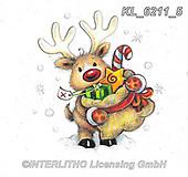 CHRISTMAS ANIMALS, WEIHNACHTEN TIERE, NAVIDAD ANIMALES, paintings+++++,KL6211/5,#xa# ,sticker,stickers