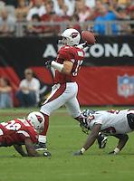 Aug 18, 2007; Glendale, AZ, USA; Arizona Cardinals quarterback Kurt Warner (13) against the Houston Texans at University of Phoenix Stadium. Mandatory Credit: Mark J. Rebilas-US PRESSWIRE Copyright © 2007 Mark J. Rebilas