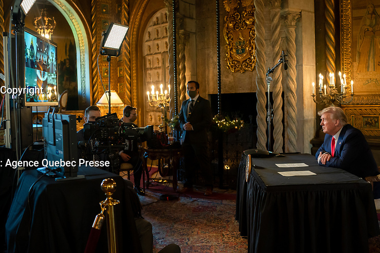 President Trump Speaks with Military Service Personnel on Christmas Day<br /> <br /> President Donald J. Trump speaks with military service personnel on duty around the world Friday, Dec. 25, 2020, during a Christmas Day video teleconference call at Mar-a-Lago in Palm Beach, Fla. (Official White House Photo by Shealah Craighead)