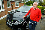 Mikey Sheehy at home in Tralee with his Nissan Qashqai