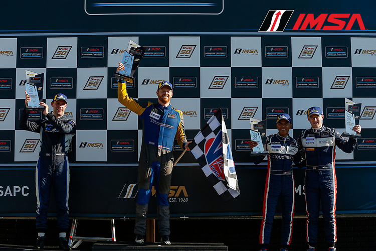 LMP3 Podium, #23 Gilbert/Korthoff MotorSports Norma M30, LMP3: Mike Skeen, #64 K2R Motorsports Ligier JS P3, LMP3: Matthew Bell, #30 Sean Creech Motorsports Ligier JS P3, LMP3: Naj Husain, Wayne Boyd