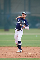 John Montes (12) during the WWBA World Championship at the Roger Dean Complex on October 12, 2019 in Jupiter, Florida.  John Montes attends Leadership Christian Academy in Toa Alta, PR and is committed to UCF.  (Mike Janes/Four Seam Images)