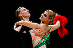 Evaldas Sodeika and Ieva Zukauskaite of Lithuania during the WDSF GrandSlam Standard on the Day 2 of the WDSF GrandSlam Hong Kong 2014 on June 01, 2014 at the Queen Elizabeth Stadium Arena in Hong Kong, China. Photo by AItor Alcalde / Power Sport Images