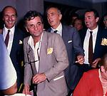 GIORGIO NAPOLITANO CON PETER FALCK  ALL'OPEN GATE 1985  PRESENTAZIONE SPOT COOP