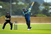 Action from the Premier T20 Cup Wellington men's twenty20 cricket match between Johnsonville and Petone-Riverside at Alex Moore Park in Wellington, New Zealand on Saturday, 9 January 2021. Photo: Dave Lintott / lintottphoto.co.nz