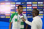 Al Ahli (KSA) vs Al Ahli (UAE) during the 2015 AFC Champions League Group D match on April 07, 2015 at the King Abdullah Stadium in Jeddah, Saudi Arabia. Photo by Adnan Hajj / World Sport Group