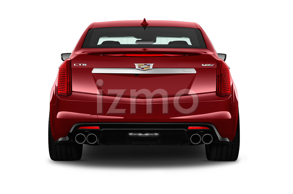 Straight rear view of 2019 Cadillac CTS-V - 4 Door Sedan Rear View  stock images