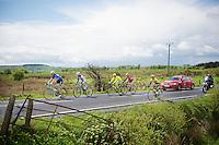 5 men breakaway group of the day: Gert Dockx (BEL/Lotto-Belisol), Giorgio Cecchinel (ITA/Neri Sottoli), Yonder Godoy (VEN/Androni Giocattoli), Miguel Angel Rubiano (COL/Columbia) & Maarten Tjallingii (NLD/Belkin)<br /> <br /> Giro d'Italia 2014<br /> stage 3: Armagh - Dublin 187km
